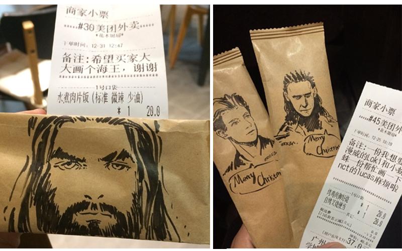 老闆有求必應...點餐外送附贈指定「要畫的角色」  網揪團朝聖:神一般的畫技