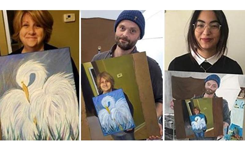 初學畫畫的媽媽秀出一幅畫  網友突發起「畫畫接力賽」...最後作品讓人超佩服:好溫暖