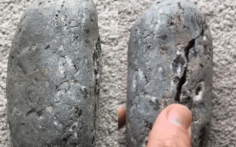 小男孩在海邊撿了一顆石頭回家,三十五年後「石頭出現裂痕」大驚:寶物藏在裡面!